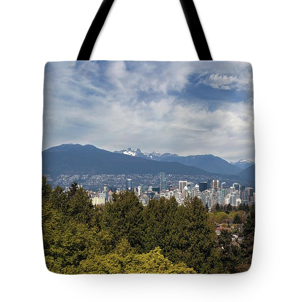 Vancouver Bc Skyline Daytime View Tote Bag by David Gn