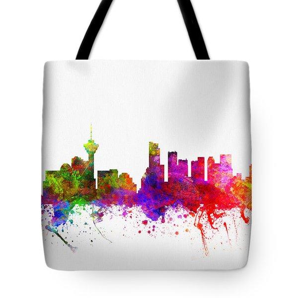 Vancouver British Columbia Skyline Color02 Tote Bag