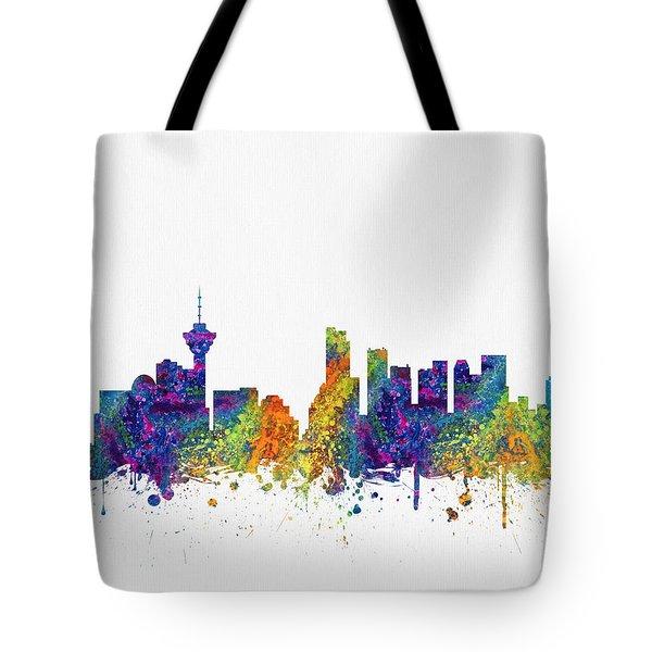 Vancouver British Columbia Skyline Color03 Tote Bag