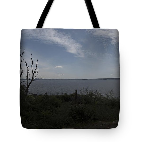 Vancouver From Afar Tote Bag by Rod Wiens