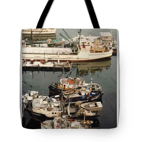 Tote Bag featuring the photograph Vancouver Harbor Fishin Fleet by Jack Pumphrey
