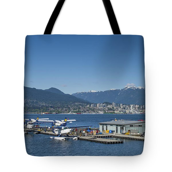 Tote Bag featuring the photograph Vancouver Harbour Flight Centre by Ross G Strachan