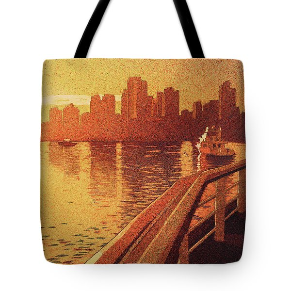 Tote Bag featuring the painting Vancouver Morning- Bc by Ryan Fox