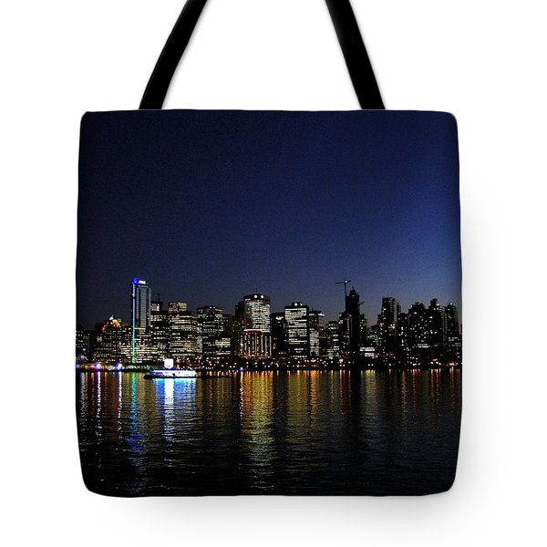 Vancouver Night Lights Tote Bag by Will Borden