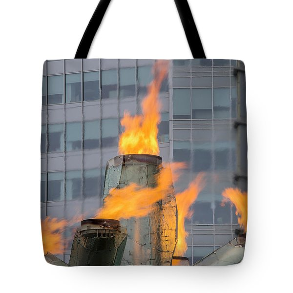 Vancouver Olympic Cauldron 2 Tote Bag