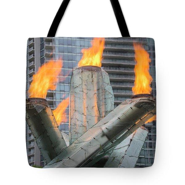Vancouver Olympic Cauldron Tote Bag