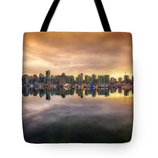 Tote Bag featuring the photograph Vancouver Reflections by Eti Reid
