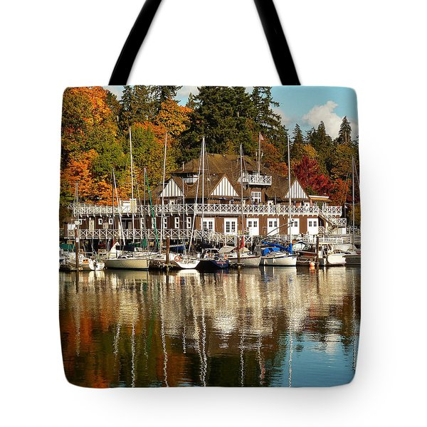 Vancouver Rowing Club In Autumn Tote Bag