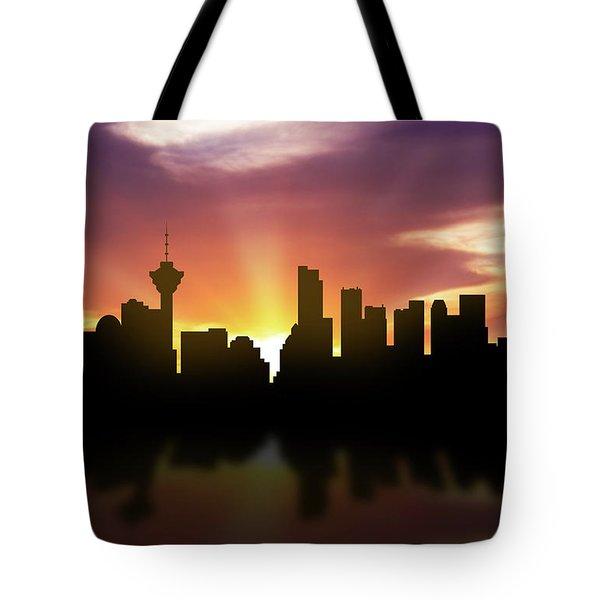 Vancouver Skyline Sunset Cabcva22 Tote Bag