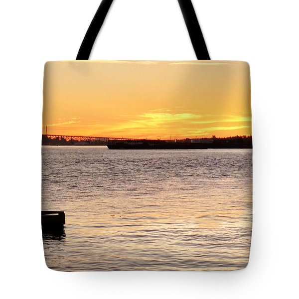 Vancouver Sunset Tote Bag
