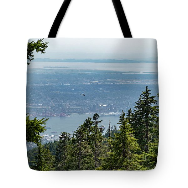 Tote Bag featuring the photograph Vancouver Through The Trees by Ross G Strachan