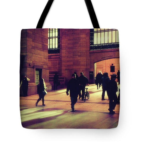 Tote Bag featuring the photograph Grand Central Rush by Jessica Jenney
