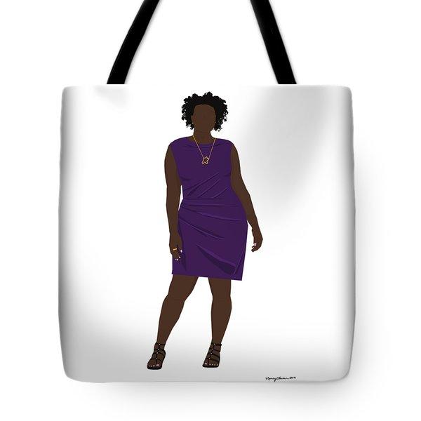 Tote Bag featuring the digital art Vanessa by Nancy Levan