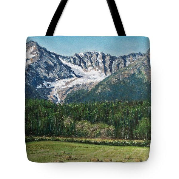 Tote Bag featuring the painting Vanishing Glacier by Stanza Widen