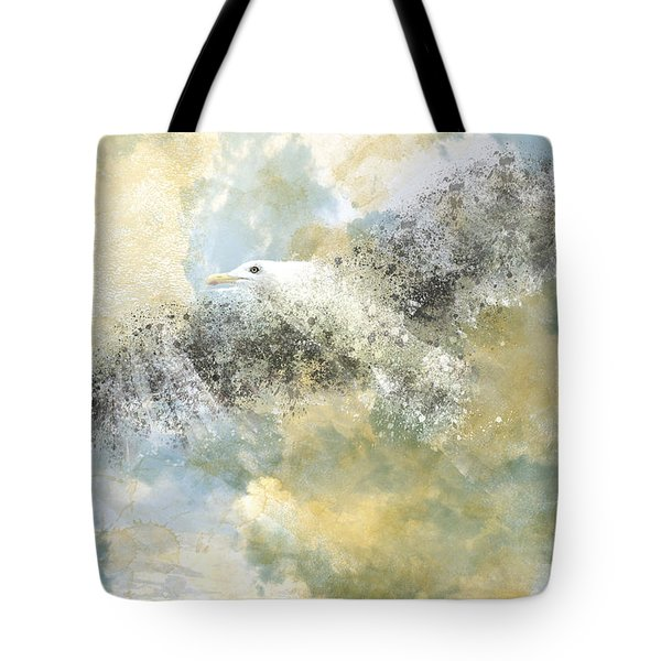 Vanishing Seagull Tote Bag by Melanie Viola