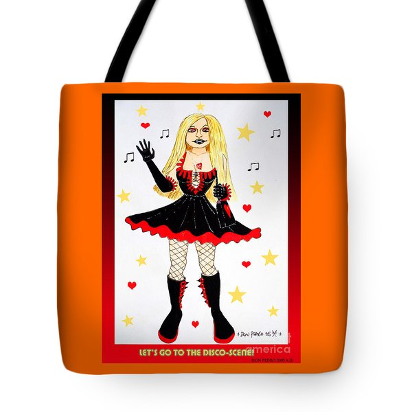 Tote Bag featuring the painting Vannieh-the Disco-queen Of The Nineties by Don Pedro De Gracia