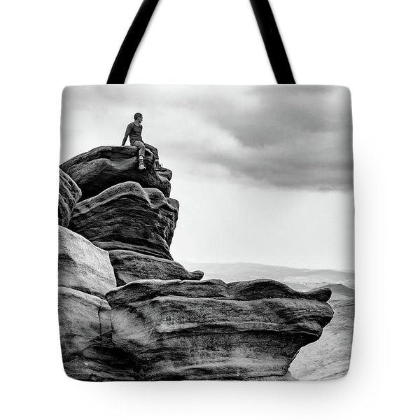 Tote Bag featuring the photograph Vantage Point by Nick Bywater