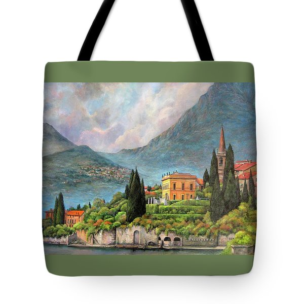 Varenna Italy Tote Bag by Donna Tucker