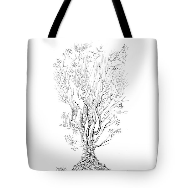Variation On A Cayley Tree Tote Bag by Regina Valluzzi