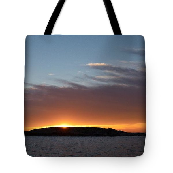 Tote Bag featuring the photograph Variations Of Sunsets At Gulf Of Bothnia 1 by Jouko Lehto