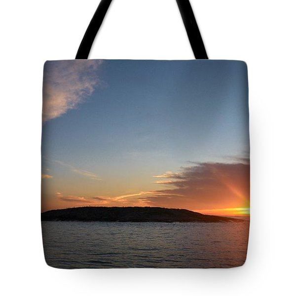Tote Bag featuring the photograph Variations Of Sunsets At Gulf Of Bothnia 3 by Jouko Lehto
