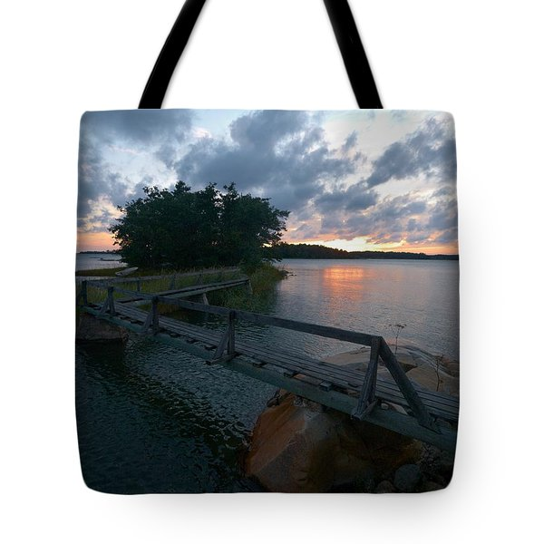 Tote Bag featuring the photograph Variations Of Sunsets At Gulf Of Bothnia 6 by Jouko Lehto
