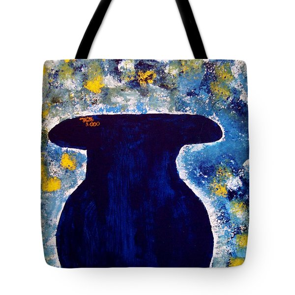 Vas And Flowers Tote Bag by Michael Grubb