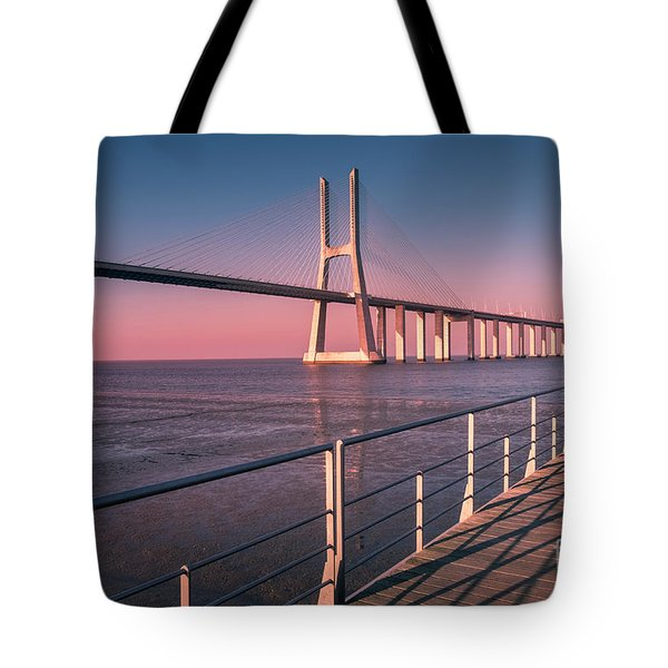 Vasco Da Gama Bridge 2, Lisbon Tote Bag