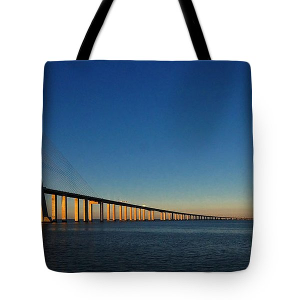 Vasco Da Gama Bridge Lisbon 1 Tote Bag