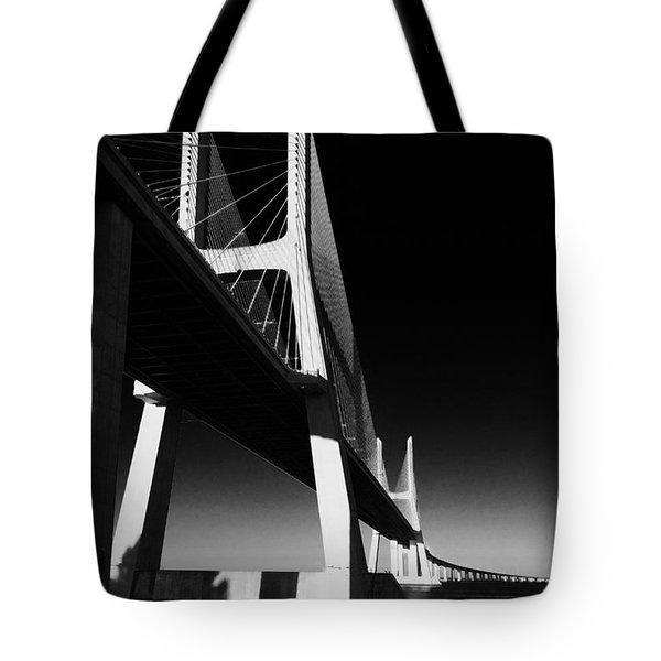 Vasco Da Gama Bridge Lisbon 4 Tote Bag