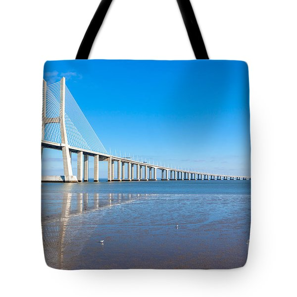 Vasco Da Gama Bridge, Lisbon Tote Bag