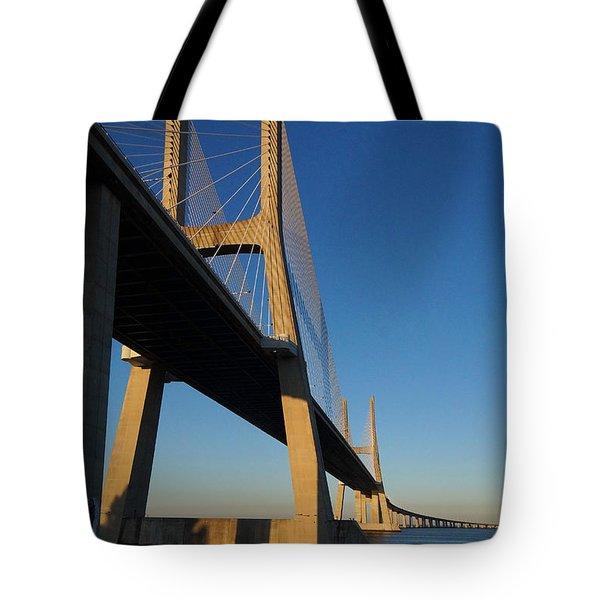 Vasco Da Gama Bridge Lisbon 3 Tote Bag