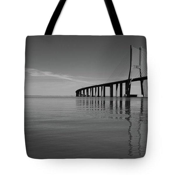 Vasco Da Gama Bridge Tote Bag