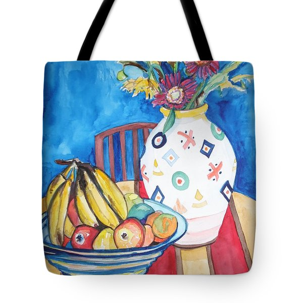 Vase And Bowl Tote Bag by Esther Newman-Cohen