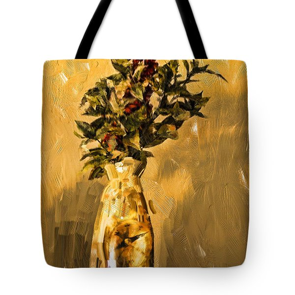 Vase And Flowers Tote Bag by Dale Stillman