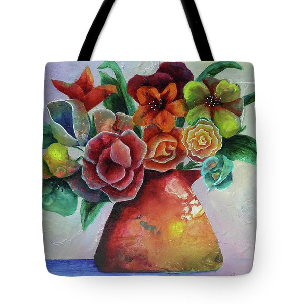 Vase Full Of Peace And Delight Tote Bag by Terry Honstead