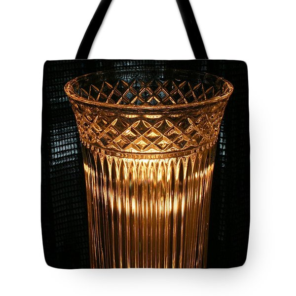 Vase In Amber Light Tote Bag