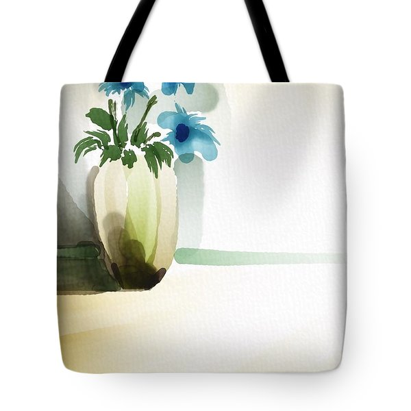 Vase In Light Tote Bag by Frank Bright