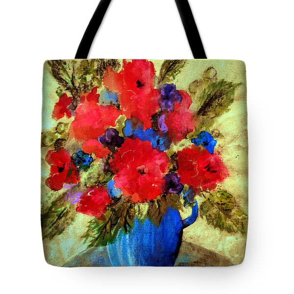 Vase Of Delight-still Life Painting By V.kelly Tote Bag