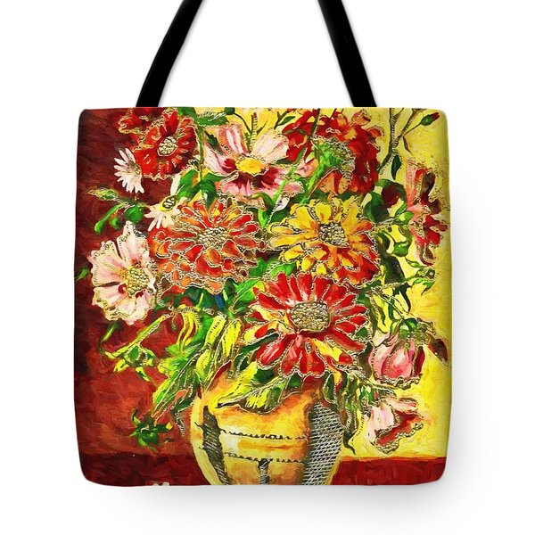 Vase Of Flowers Tote Bag