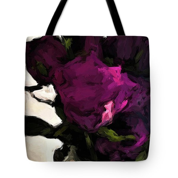 Vase Of Roses With Shadows 1 Tote Bag