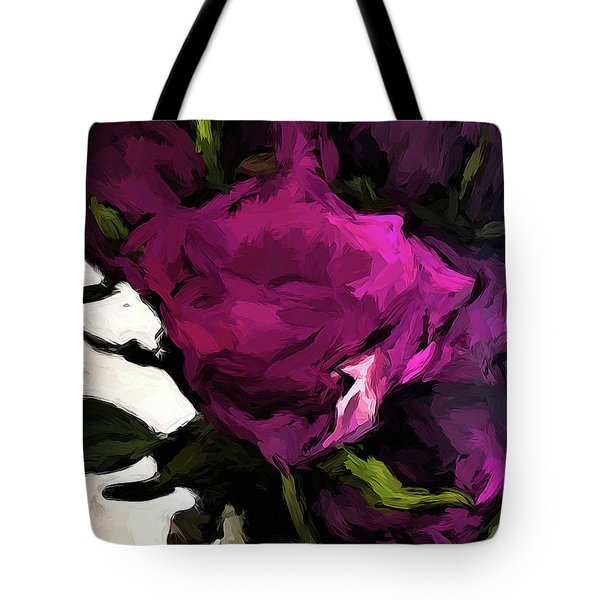Vase Of Roses With Shadows 2 Tote Bag