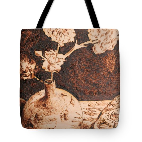 Vase With Flowers Tote Bag