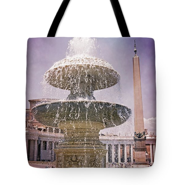 Tote Bag featuring the photograph Vatican City Fountain by David Birchall