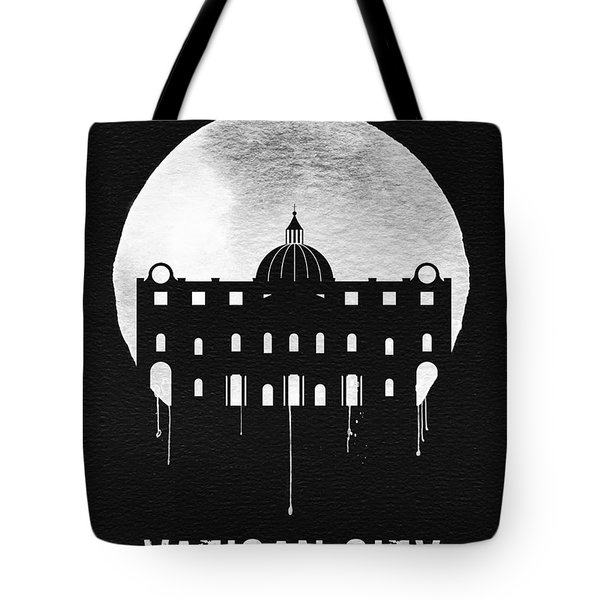 Vatican City Landmark Black Tote Bag