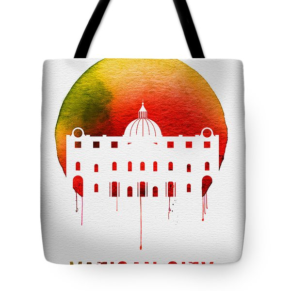 Vatican City Landmark Red Tote Bag