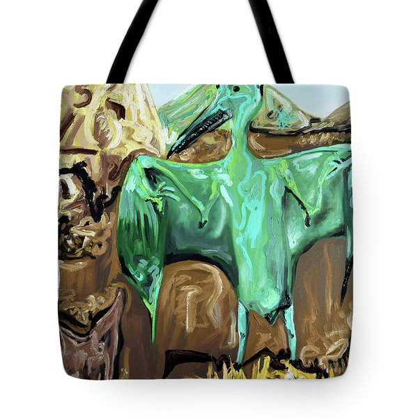 Tote Bag featuring the painting Vega by Ryan Demaree
