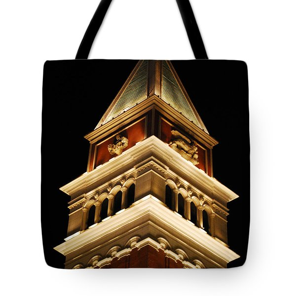 Tote Bag featuring the photograph Vegas At Nite by Maggy Marsh