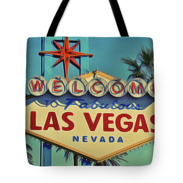 Tote Bag featuring the painting Vegas by Harry Warrick
