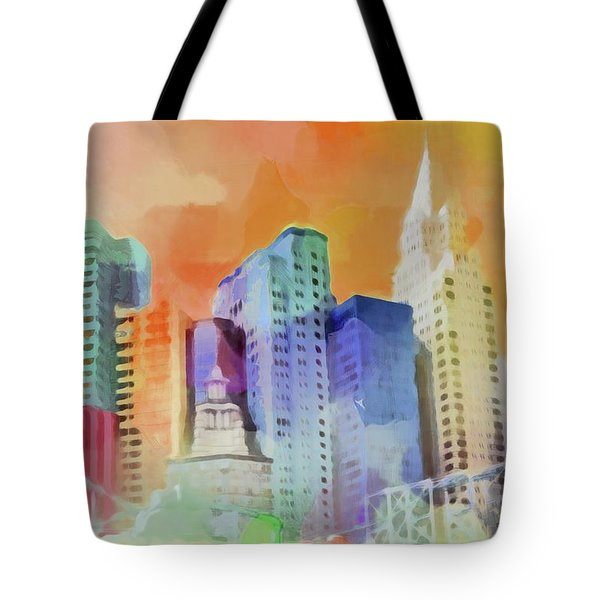 Vegas New York Tote Bag
